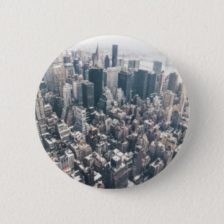 Skyscrapers and Rooftops of New York City 6 Cm Round Badge
