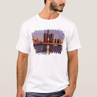 Skyscrapers by the water in Detroit 2 T-Shirt