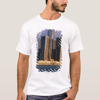 Skyscrapers by the water in Detroit 3 T-Shirt