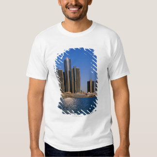 Skyscrapers by the water in Detroit Shirt