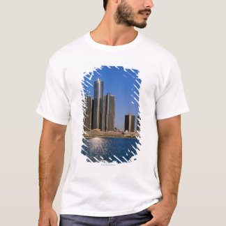 Skyscrapers by the water in Detroit T-Shirt