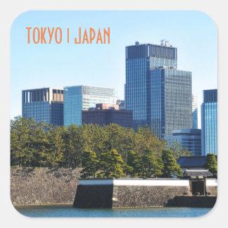 Skyscrapers in Tokyo, Japan Square Sticker
