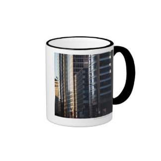 Skyscrapers line Chicago's financial district Ringer Mug