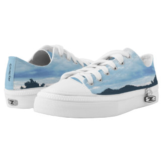SkyShoes© Low Tops Kicks: choose size Printed Shoes