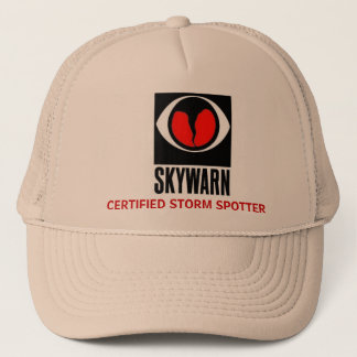 skywarn large, CERTIFIED STORM SPOTTER Trucker Hat