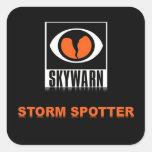 SKYWARN Storm Spotter Square Sticker