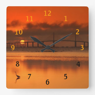 Skyway Bridge Square Wall Clock