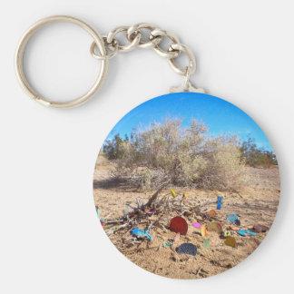 Slab City Trash Garden Basic Round Button Key Ring