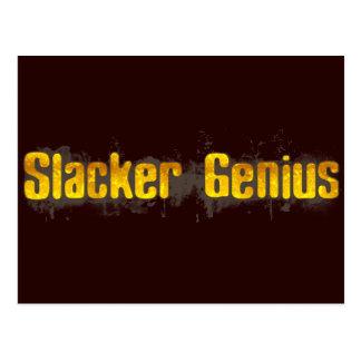 Slacker Genius Postcard