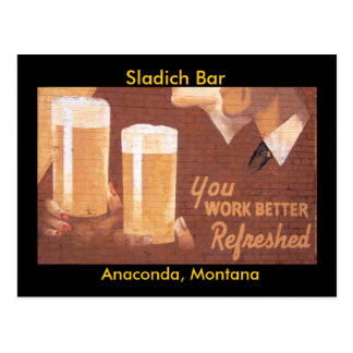 Sladich Bar Postcard