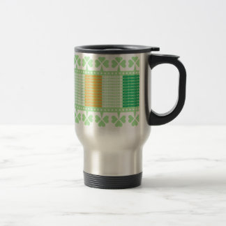 Slainte Flag Shamrock Stainless Steel Travel Mug