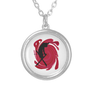 Slalom Healing Silver Plated Necklace