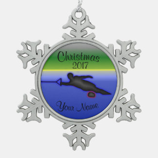 Slalom Water Ski Christmas Ornament