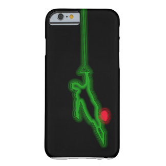 Slalom Water Skier Green Neon iPhone 6 case Barely There iPhone 6 Case