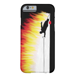 Slalom Water Skier With Flames Barely There iPhone 6 Case