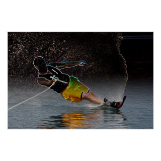 Slalom Waterskiing-Poster Art Poster