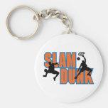 slam dunk basketball design keychain