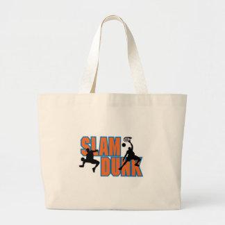 slam dunk basketball design jumbo tote bag