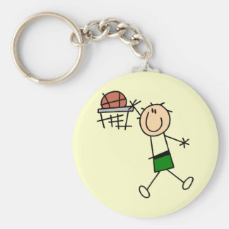Slam Dunk Basketball Green T-shirts and gifts Basic Round Button Key Ring