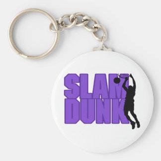 Slam Dunk Basketball Keychain