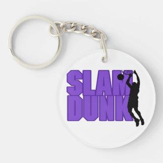 Slam Dunk Basketball Double-Sided Round Acrylic Key Ring