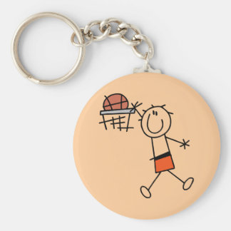 Slam Dunk Basketball Orange T-shirts and Gifts Basic Round Button Key Ring