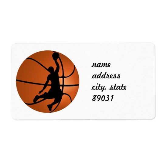 Slam Dunk Basketball Player Shipping Label