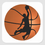 Slam Dunk Basketball Player Square Stickers