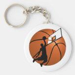 Slam Dunk Basketball Player w/Hoop on Ball