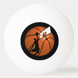 Slam Dunk Basketball Player w/Hoop on Ball