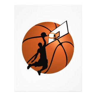 Slam Dunk Basketball Player w Hoop on Ball Flyer