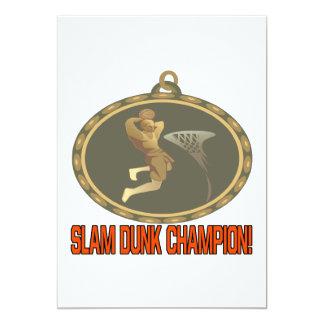 Slam Dunk Champion 13 Cm X 18 Cm Invitation Card