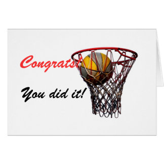 Slam Dunk! Congratulations! Card