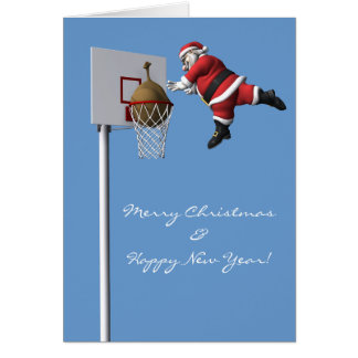 Slam Dunk Santa Claus Card