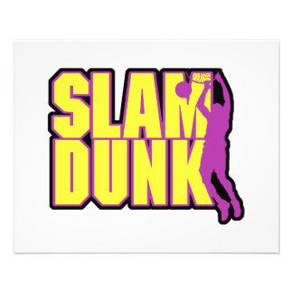 slam dunk text yellow and purple 11.5 cm x 14 cm flyer
