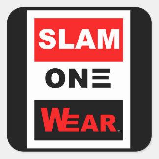SLAM ONE WEAR SQUARE STICKER