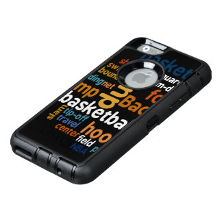 Slam Travel Tip-off Basketball Field Text Stylish OtterBox iPhone 6/6s Case