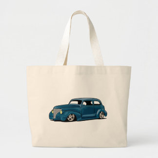 Slammed Hot Rod Coupe Tote Bags