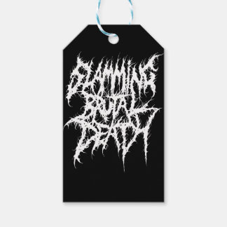 Slamming Brutal Death Metal Gift Tags