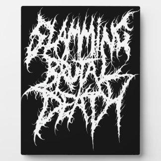 Slamming Brutal Death Metal Plaque