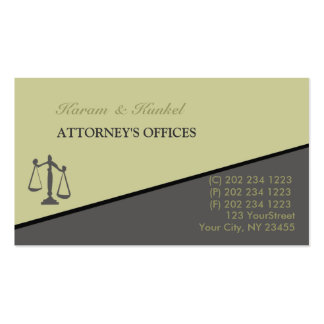 Slanted Attorney Office Clerk Lawyers Pack Of Standard Business Cards