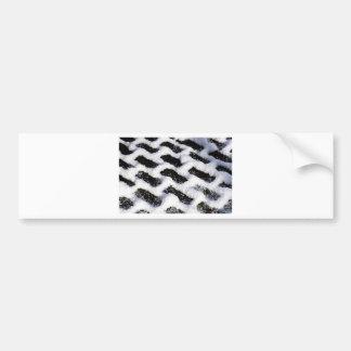 slanted bricks bumper sticker