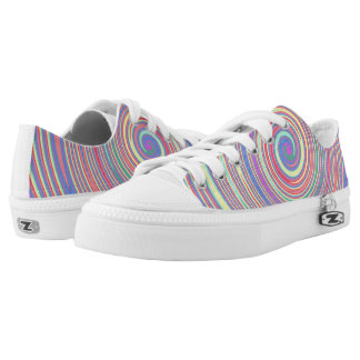 Slanted Color Lines Swirl Womens Shoes Printed Shoes
