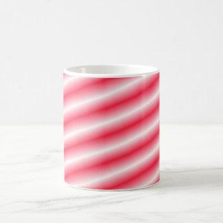 Slanted Red to White Gradient Lines Coffee Mug