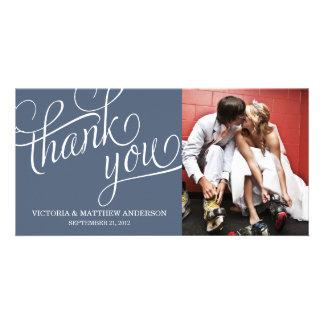 SLANTED   WEDDING THANK YOU PHOTO CARD