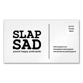 SlapSad magnetic business card Magnetic Business Cards
