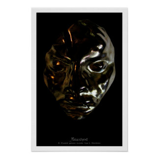 Slashed Glass Sculpture Poster