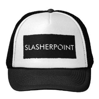 Slasherpoint™ Brand Black & White Trucker Hat