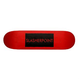SLASHERPOINT™ Brand Bold Red Skateboard