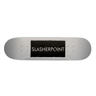 SLASHERPOINT™ Brand Silver Skateboard